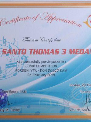 """Juara Harapan 2 Choir Competition """"Porseni YPK Don Bosco KAM 2018"""""""