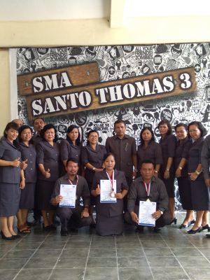Perayaan Hardiknas tgl 2 mei'18 di SMA ST Thomas 3 Medan di tandai dengan pemberian medali Olimpiade.